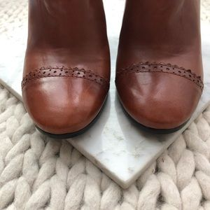Tory Burch Shoes - Tory Burch Huxley Camel Brown Heeled Ankle Boots